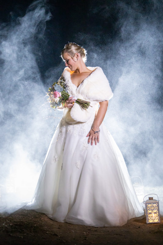 Cranford Country Lodge Bride with angel wings