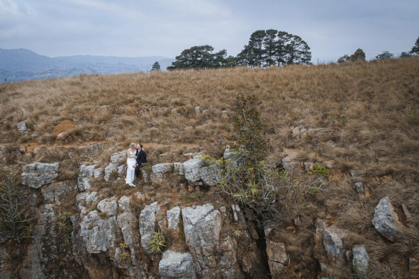 Talloula Bride and Groom drone