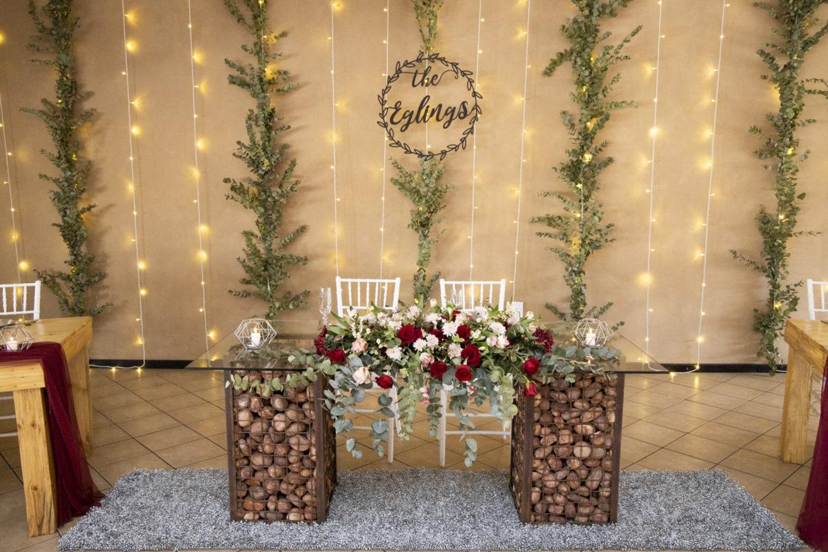 Eden Lassie Wedding reception table