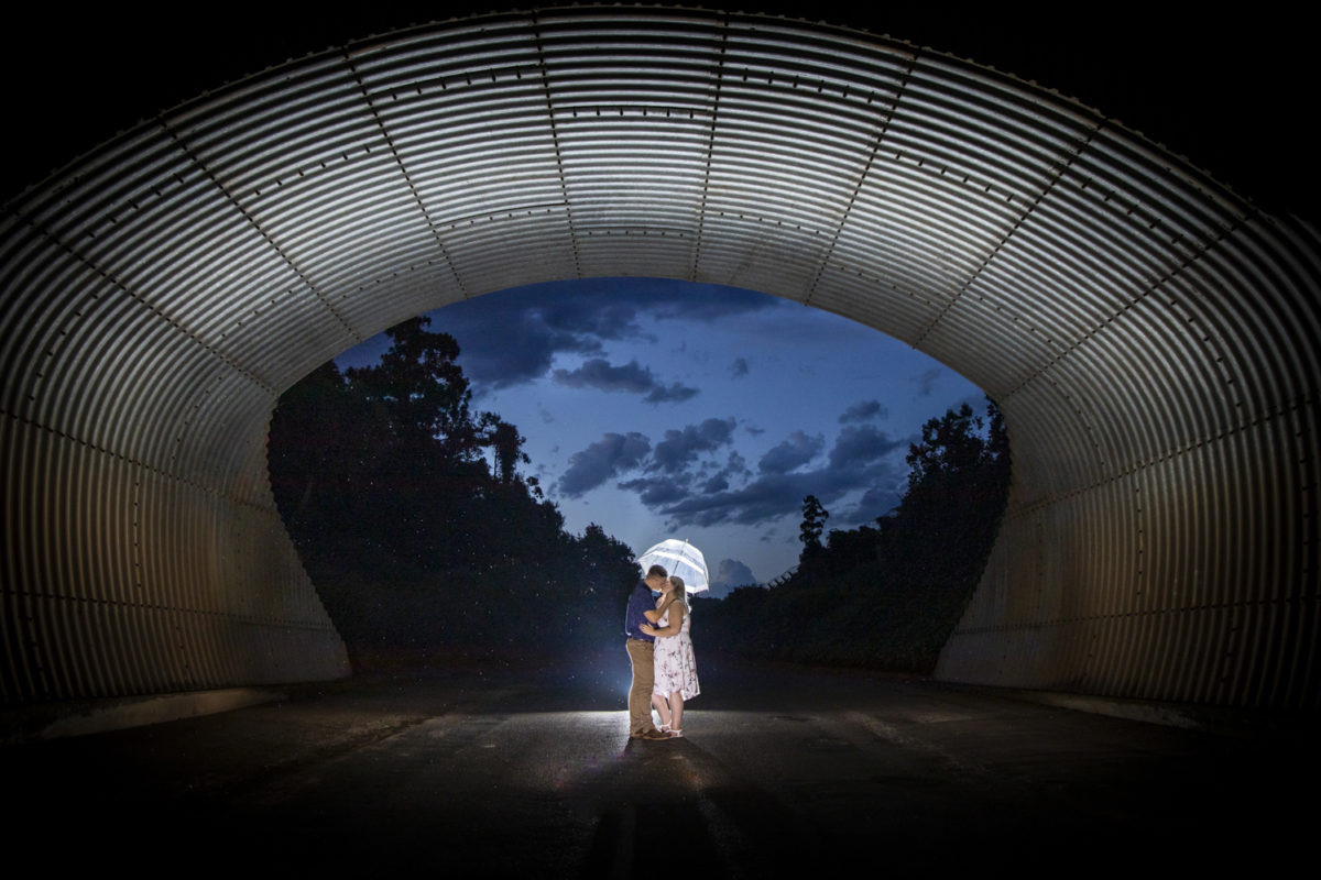 Midlands Wedding Photographer Chris McCabe Photography Durban Kzn umbrella and kissing under a bridge