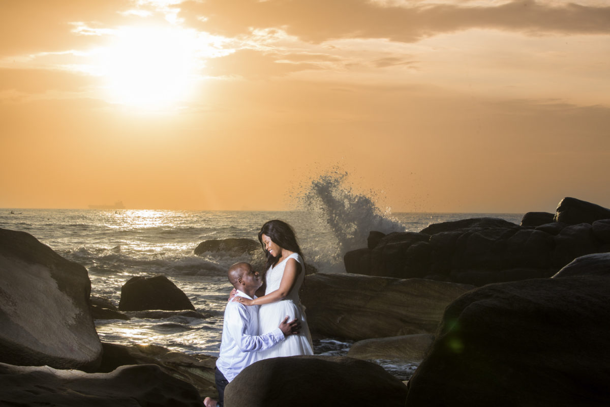 Sunrise sunshine to trash-the-dress in Umhlanga
